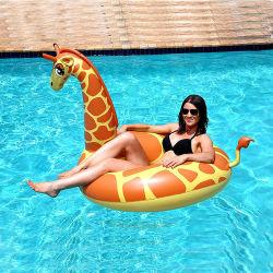 Nouvelle Creative Inflatable Girafe Girafe ligne flottante de fournitures de Natation Natation anneau Jouet de l'eau