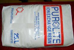 Purolite resina de intercambio iónico utilizado para la purificación de agua RO C100e