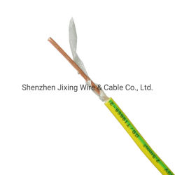 La masa verde amarillo 2.5mm 7 Capítulo 24 un único núcleo 6491b LSZH (baja emisión de humos Libres de halógenos) alrededor del conducto aislado el cable de alimentación