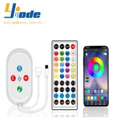 5-24V 적외선 40 키 Bluetooth RGB LED 지구 빛을%s 먼 음악 관제사