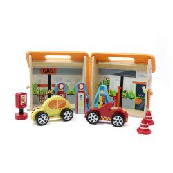 Neues Ankunfts-Kind-pädagogisches Spielzeughölzerne Dollhouse-Tankstelle-Spielwaren
