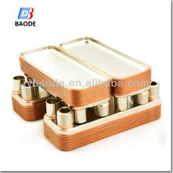 Échangeur thermique à plaques brasées de cuivre condenseur en acier inoxydable AISI 316