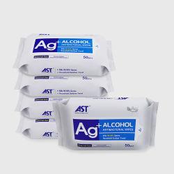 la pulizia adulta disinfettante di superficie non tessuta di 50PCS 75alcohol bagna