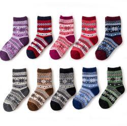 Fábrica Jiaxing Angola lã acrílica meias macio quente Kid meias