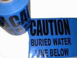 No detectables de cintas de advertencia de metro la línea de agua por debajo de la cinta de protección