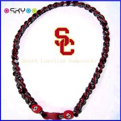 Noi collane di titanio del germanio Braided della corda di ciclone di football americano (P055)