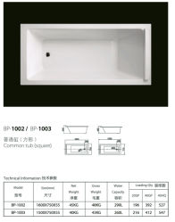 Строительство - в общей ванной Retangular (BP-1002/BP-1003)