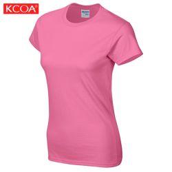 보통 관례를 인쇄하는 여름 스크린은 주문을 받아서 만들어진 여자의 티 셔츠를 인쇄했다