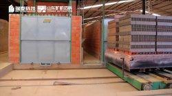 Tijolos de argila tornar planta bloco porosa linha de produção com túnel automático Forno e sistema do secador