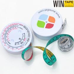 Regalos médicos Calculadora del IMC y cinta métrica calculadora con nombres de empresa (60 pulg./150cm con forma redonda)