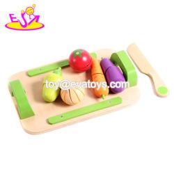 2018 Nueva llegada para la Educación Niños Frutas Verduras juguete de madera juego de juego de corte W10b216