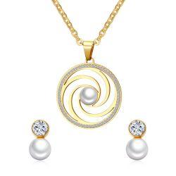 de Juwelen van de Oorring van de Nagel van de Parel van de Parel van 10mm met de Ronde Tegenhanger die van de Cirkel worden geplaatst