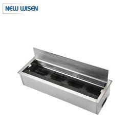 Mesa de conferência Caixa de cabo de liga de alumínio fio mobiliário fichas da caixa para mesa de reunião