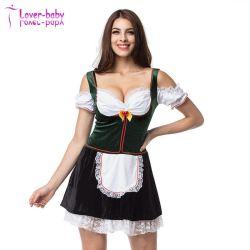 Знаменитый Октоберфест новой женской зеленый / Белый пиво девочек фантазии платье L1214