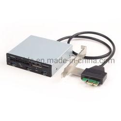 PCI-E 3,5ДЮЙМОВЫХ многофункциональный Deshboard 4 портов USB 3.0 Combo внутренней ступицы с карт памяти