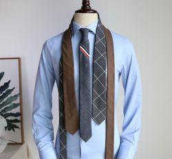 패션 100% 폴리에스테르 극세사 우븐 맞춤 넥타이