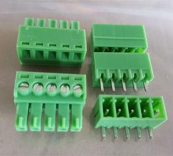 2edg 3.5mm 피치 5p 남성과 여성 녹색 플러그 끝 구획