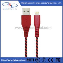 Фги сертифицированных производит кабели для разъемов зарядки и передача данных нейлоновые молнии со сплетением кабель для iPhone X/8/8 Plus и iPad