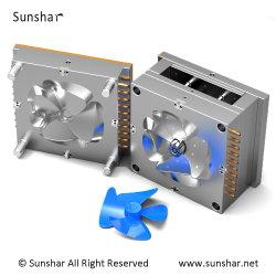 OEM Custom les pièces en plastique pour le refroidissement de la société de moulage par injection les pales du ventilateur électrique