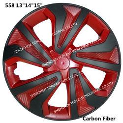 "13""14""15"" Llantas de fibra de carbono Twin-Color Car Centre embellecedores"