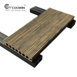 3D小麦粉は材木のDeckingのプラスチックフロアーリングをタイルを張る