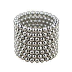 مغناطيس كرة مغناطيسي مطلي بالكنيميوم بقطر 5 مم من المصنع لتقليل التوتر