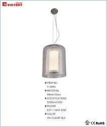 Nouveau design moderne lustre en verre simple vie lampe de la poignée de commande
