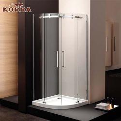Le quadrant salle de douche avec deux panneaux de porte coulissante
