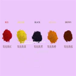 Vermelho/Preto/Verde/Amarelo/Azul em pó de óxido de ferro Pigmento