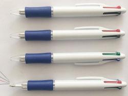 Vier-Farbe fördernder Plastikkugelschreiber für Schule-Zubehör