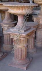 La décoration sculptée de marbre de pierre à sculpter en plein air pour le jardin Flowerpot (BAA612)