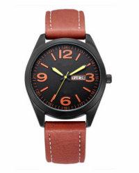 De Horloges van Mens van de Sporten van de Manier van het roestvrij staal, het Horloge van het Embleem Custome, het Horloge van de Manier (gelijkstroom-191)