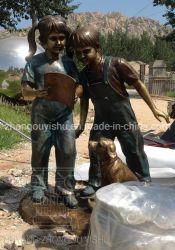Scultura Bronze della cassetta postale dei bambini della decorazione del giardino