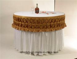 Hotel-runde dekorative Bankett-Partei-Satin-Tisch-Fußleiste
