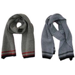 人のアクリルの編む方法ジャカードスカーフ