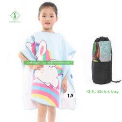 Mantel van het Fluweel van de Badhanddoek van de Manier van de Handdoek van het Strand van kinderen de Tweezijdige