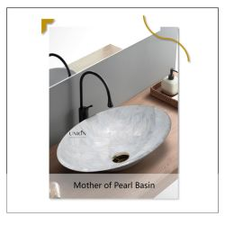 Hôtel de luxe lavabo en verre Collage manuel de Nacre navire de la Salle de Bain lavabo