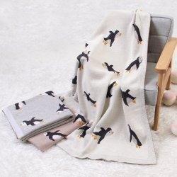 Детский трикотажные Пингвин проведение одеяло детское одеяло Stroller