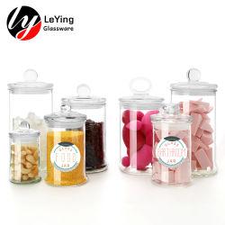 Fabrikant Glaswerk verpakking helder glas Mason Candle hone Jam Food Beker met bewaarbeker voor snoepflessen Jar