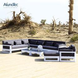 Simplicidade elegante Restaurante Cafe Tabelas de estar luxuoso mobiliário de exterior Sofá Definido