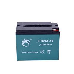 12V40AH 6-Dzm-40 E-Batería de plomo ácido para Bicicleta