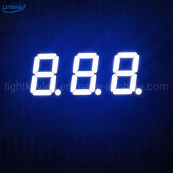 شاشة عرض ثلاثية المقاطع متوافقة مع معيار OBM OEM (مصنعي الأجهزة الأصلية) من فئة 3 أرقام تحتوي على شاشة بيضاء