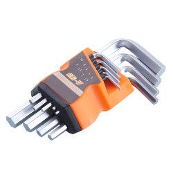 Jeu de clés hexagonales de réparation de voiture d'utilisation de la famille Clé Allen défini avec la plaquette thermoformée d'emballage de la carte