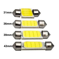 1x C10W C5W LED COB Festoon 31mm 36mm 39mm 41/42mm 12V Weiße Glühlampen für Kfz-Kennzeichenleuchte im Innenraum 6500K 12SMD
