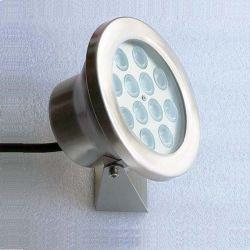 RGB防水IP68水中LEDのプールの照明アクアリウムのための鋼鉄ステンレス製の噴水ライト