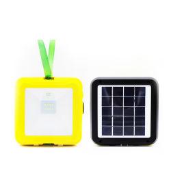 Lámpara LED solar de emergencia portátil con panel solar incorporado Correa y resplandeciente del sistema de carga para el hogar o en el exterior de productos de Camping LED