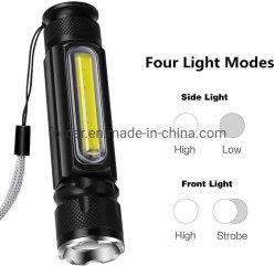 LEIDENE van Zoomable van de Wijzen van de Navulbare LEIDENE USB het MiniMagneet van Flitslichten Handbediende Lichte Regelbare 4 Waterdichte Heldere Tactische Flitslicht van de Toorts