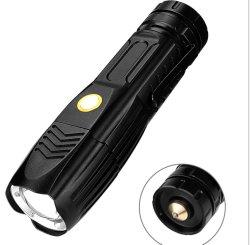 LED 플래쉬 등, 안전 망치 최고 밝은 높은 루멘을%s 가진 Ipx5 물 저항하는 플래쉬 등, Zoomable 의 5개의 가벼운 최빈값