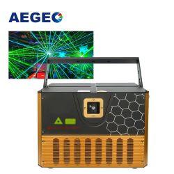 Ночной клуб Бар 3D лазерное шоу проектор 5W RGB анимации текста рекламы настроить Disco DJ лазерной печати