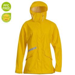 Het klassieke Gele Lange Jasje van het Jasje van de Regenkleding van Pu voor de Zwangere Regenjas van het Jasje van de Winter van het Jasje van Vrouwen Openlucht